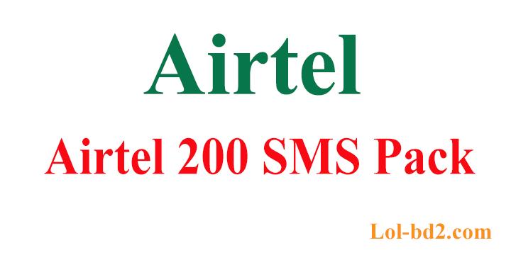 Airtel 200 SMS Pack
