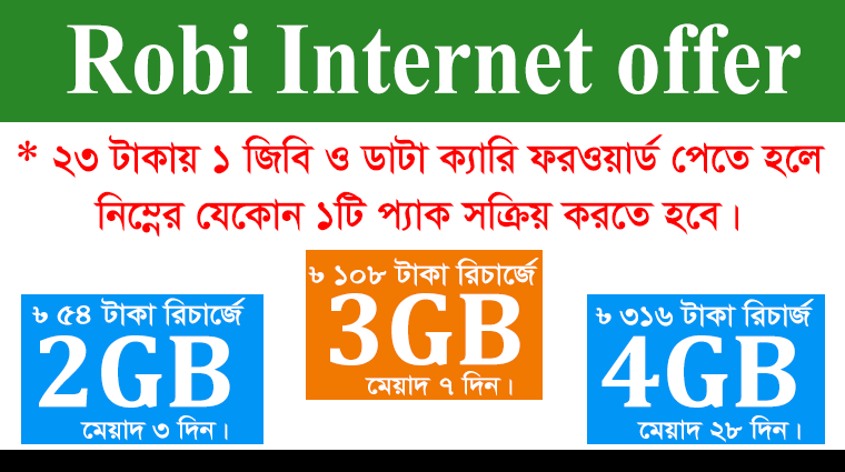 robi 23tk 1gb offer