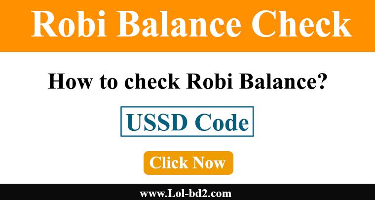 robi balance check